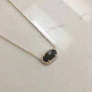 Kendra Scott black stone gold pendent necklace